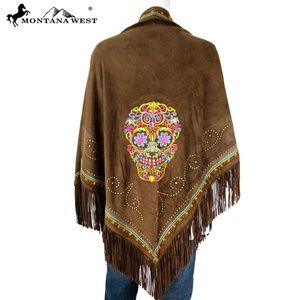 Montana West Embroidered Collection Shawl